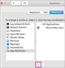 Create A Custom Keyboard Shortcut For Office For Mac Office Support