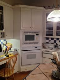 old kitchen that needs wall oven
