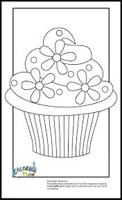 Cupcake Coloring Pages Free Printable Cupcake