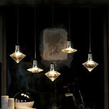 art deco modern hanging clear glass crystal pendant lamp cord with led g9 lights for dining art deco kitchen lighting