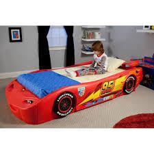 Lightning Mcqueen Bedroom Accessories Disney Cars Lightning Mcqueen Twin Bed With Lights Box 2