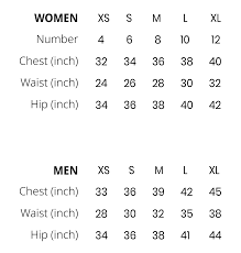 Lululemon Womens Tops Size Chart Paragon Size Chart Paragon Fitwear