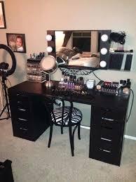 black vanity simple best makeup ideas on inside ikea table dressing with lights amusing floating powder makeup vanity