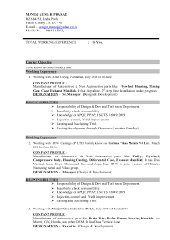 resume for it company resume for design and development foundry