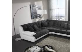 Materialmix Wohnlandschaft Leder Stoff Chillout One