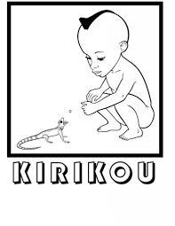 Kirikou Et Le L Zard Est Un Coloriage Imprimer