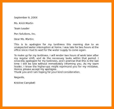 Sample Apology Letter For Being Late Enchanting Letter Of Lateness Denmarimpulsarco
