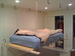 Bedroom:Impressive Hanging Beds For Bedrooms With Blue Bed Sheet And White  Closet Decor Idea