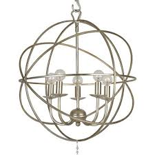 crystorama solaris 5 light olde silver mini chandelier