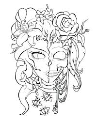 Skull Coloring Pages For Adults Skull Coloring Pages Adult Free