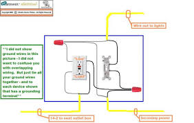how to wire a gfci outlet to a light switch comvt info Wiring A Light Switch And Outlet how do i connect a gfci outlet to a single pole light switch, wiring diagram wiring a light switch and outlet together