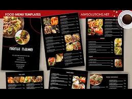 Resturant Menu Template Food Menu Template Id26 Brochure Templates Creative Market