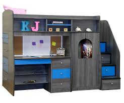 kids bedroom furniture desk. Wood Bunk Bed With Desk. Dark Gray Wooden Beds Stairs And Desk For Kids Bedroom Furniture