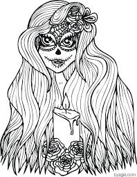 Day Of The Dead Coloring Pages To Print Day Of The Dead Coloring
