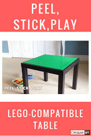 4 variera box, white 13×9″ and 2 9×6″ 4 green ikea handles. How To Make A Diy Ikea Hack Lego Compatible Table Creative Qt