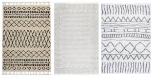 rug white black white tribal rugs 2 gy raggy white rug and nursery necessities in interior design gy raggy white rug
