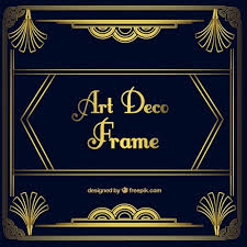 Blue And Gold Powerpoint Template Art Deco Powerpoint Template Free Affordable Presentation