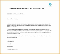 Cancellation Letters Templates Gym Cancellation Letter Template Uk