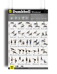 Free Gym Workout Chart Dumbbell Exercises Workout Poster Now Laminated Home Gym