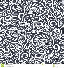 Curly Patterns And Designs Seamless Abstract Curly Floral Pattern Stock Illustration