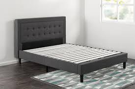 platform bed vs box spring. Exellent Spring The Zinus Upholstered Bed Frame In Dark Grey Assembled A Bedroom And Platform Bed Vs Box Spring E