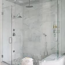 gray mosaic marble shower floor