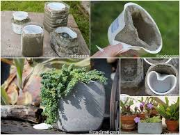 How to make Variety of Cement Planters step by step DIY tutorial picture  instructions we should have a craft weekend!