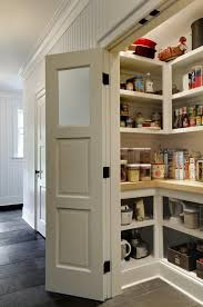 Tremendous Closet to Pantry Plans with Wall Mounted Wooden Shelves for Closet  Pantry and Natural Stone Tile Flooring Kitchen