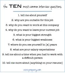 Job Interview Questions How to answer the most common interview questions The Prepary 1