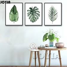 wall art for home office. Framed Plant Art Watercolor Green Plants Leaf Canvas Posters Modern Minimalist Style Home Office Decor Painting Wall Trussville Al For I