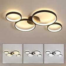 Beleuchten sie ihre räumlichkeiten auf geschmackvolle und energieeffiziente weise. Led Dimmbar Deckenleuchte 4 Ringe Deckenlampe Rund Modern Deckenbeleuchtung Schwarz Wohnzimmer Deckenlicht Decke Schlafzimmer Lampe Amazon De Beleuchtung