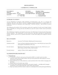 Marketing Coordinator Job Description Fascinating Resume For Marketing Coordinator With Sample Resume 7