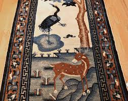 beautiful scenic antique chinese rug 47677 field nazmiyal