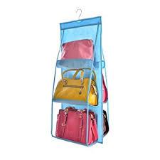 hanging door closet organizer. 6 Pockets Handbag Storage Bag Large Clear Purse Hanging Organizer Closet Wardrobe Wall Door A