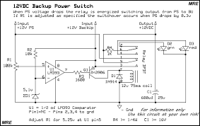 mre 12vdc ups switch lm393 12v ups relay circuit schematic diagram