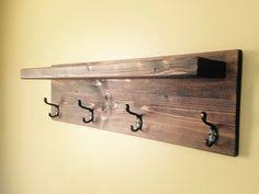 Rubbed Bronze Coat Rack Reclaimed Barn Wood Coat Rack Shelf This but stained with a walnut 67