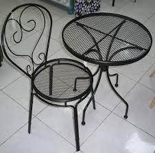 black iron outdoor furniture. Black Metal Outdoor Furniture. METAL OUTDOOR VINTAGE SET 2 CHAIRS \\u0026 ROUND TABLE R Iron Furniture
