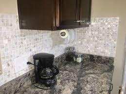 new mother of pearl backsplash tile dark cabinet and d y i kitchen lowe home depot canada idea