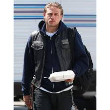 stay glam and stylish by wearing sons of anarchy jackson jax teller leather patches vest