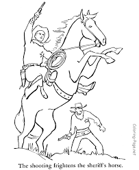 Small Picture Cowboy Printable Coloring Pages FunyColoring