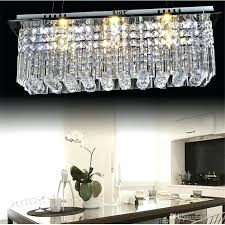 modern contemporary remote led crystal chandeliers with lights for living room rectangular flush mount ceiling lighting
