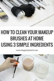 how to clean your makeup brushes at home