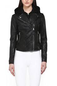 mackage yoana leather jacket front cropped image