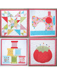 Best 25+ Sewing machine quilt block ideas on Pinterest | Quilt ... & New Quilt Patterns - Sew Happy Minis Quilt Pattern Adamdwight.com