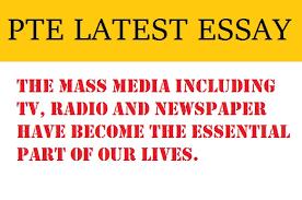 pte latest essay mass media including tv radio newspaper pte latest essay mass media including tv radio newspaper