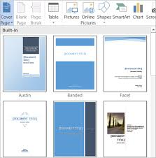 Office Cover Page Create And Use Content Building Blocks In Word Documents Word
