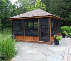 wood screen house plans wonderful screened gazebo kits decorative