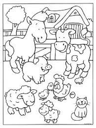 Farm Animals Coloring Pages Kids Coloring Pages Farm Animals Color