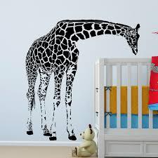 Large Giraffe Wall Decal Vinyl Sticker   Animal Series Wallpaper   Baby Bedroom  Wall Art Decor