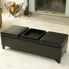 large brown ottoman brilliant faux leather ottoman coffee table